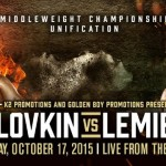 "David Lemieux - New York City (August 12, 2015) A new Madison Square Garden box office record has been set by the highly anticipated World Middleweight Championship Title Unification between WBA/IBO and ""Interim"" WBC Champion GENNADY ""GGG"" GOLOVKIN, (33-0, 30KO's), and IBF Champion DAVID LEMIEUX (34-2, 31KO's) headlining the historic venue on Saturday, October 17."