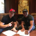 """Saul """"Canelo"""" Alvarez - Golden Boy Promotions today announced that Mexican superstar and former WBC and WBA Super Welterweight World Champion Canelo Álvarez (45-1-1, 32 KOs) has re-signed with the company, agreeing to a multi-fight, multi-year contract extension."""