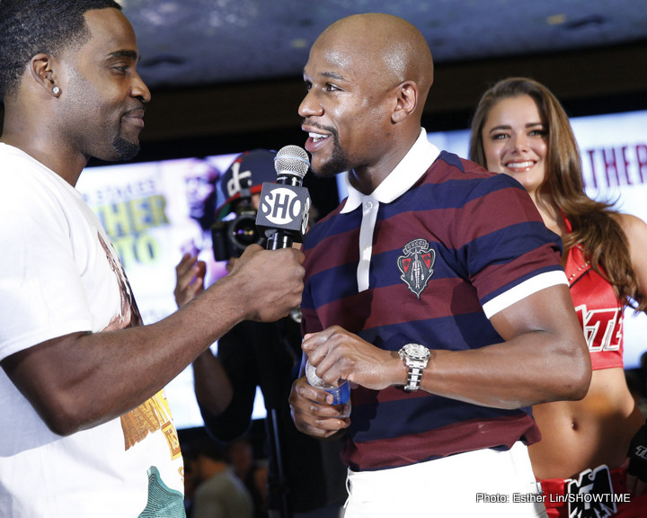 Mayweather-Berto, Jack-Groves, & Martinez-Salido grand arrival quotes