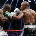 """Andre Berto, Floyd Mayweather Jr, Mayweather vs. Berto - Floyd """"Money"""" Mayweather performed one last masterpiece on Saturday live on SHOWTIME PPV® in what he insists was the final fight of his distinguished 19-year career."""