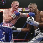 """Badou Jack, George Groves - Badou Jack """"The Ripper"""" (20-1-1, 12 KOs) successfully defended his WBC Super Middleweight World title with a hard-fought, crowd-pleasing 12-round majority decision over mandatory challenger """"Saint"""" George Groves (21-3, 16 KOs). Jack, who dropped Groves late in the first round, triumphed by the scores of 116-111, 115-112 and 113-114. The hard-luck Groves, who abruptly fled the ring in disbelief after the announcement, fell to 0-3 in world title fights. Jack was impressive in what may have been his toughest fight to date."""