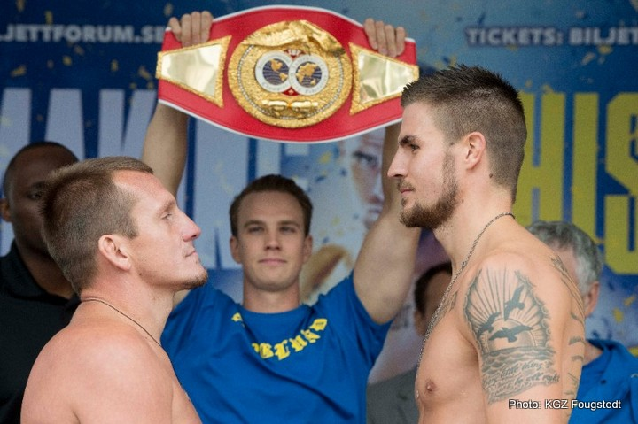 Skoglund and Cherviak weigh-in, ready for historic IBF Intercontinental title fight