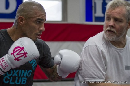 Miguel Cotto Arrives at Training Camp – Photos
