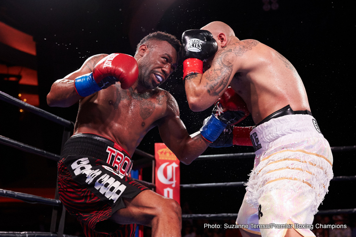 "Austin Trout, Joey Hernandez -  Austin ""No Doubt"" Trout, (30-2, 17 KOs) scored a sensational sixth round knockout over contender Joey ""Twinkle Fingers"" Hernandez, (24-4-1,14 KOs) on Tuesday night in the main event debut of Premier Boxing Champions on FS1 and FOX Deportes' TOE-TO-TOE TUESDAYS from a packed house at the Hollywood Palladium in Hollywood, California."