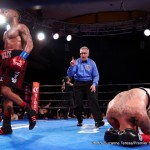 """Joey Hernandez -  Austin """"No Doubt"""" Trout, (30-2, 17 KOs) scored a sensational sixth round knockout over contender Joey """"Twinkle Fingers"""" Hernandez, (24-4-1,14 KOs) on Tuesday night in the main event debut of Premier Boxing Champions on FS1 and FOX Deportes' TOE-TO-TOE TUESDAYS from a packed house at the Hollywood Palladium in Hollywood, California."""