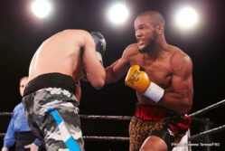 Caleb Plant, Julian Williams -  The main event of Premier Boxing Champions on FS1 and FOX Deportes showcased Julian Williams (21-0-1, 13 KOs) as he knocked out Luciano Cuello (35-4, 17 KOs) in the very first round of their contest. At the one minute 33-second mark of the first round Williams proved too much for Cuello.