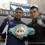 """Brian Viloria - Consensus #1 Pound For Pound Fighter in Boxing and WBC Flyweight World Champion Roman """"Chocolatito"""" Gonzalez, (43-0, 37KOs) and four-time former world champion in two-weight divisions Brian """"The Hawaiian Punch"""" Viloria (36-4, 22KOs) visited Madison Square Garden, """"The Mecca of Boxing"""" today for the first time in anticipation of their championship battle this Saturday night, Oct. 17."""