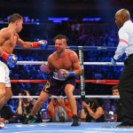 """David Lemieux - In the highly anticipated main event on Saturday night, WBA/IBO and WBC """"Interim"""" World Champion Gennady """"GGG"""" Golovkin (34-0, 31 KOs) added the IBF Middleweight Title to his collection with an exhilarating performance against former IBF Middleweight World Champion, David Lemieux (34-3, 31 KOs), culminating in an eighth round technical knockout victory on Saturday, October 17, at Madison Square Garden with a sold out crowed of 20, 548 fight fans."""