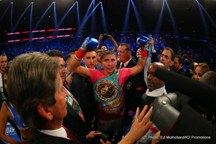 "Gennady Golovkin, Saul ""Canelo"" Alvarez - Letting Canelo, a much more popular fighter, have his way in the negotiations would seem like a normal thing for most fighter's management to do. If Canelo wants a weight advantage, then it would make sense to allow him to have the advantage in order to get the fight. Golovkin is said to be lighter fighter than Canelo, so it shouldn't be a big deal for him to agree to the 155lb catch-weight that Canelo requests for the fight."
