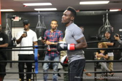 "Jermell Charlo, Joachim Alcine -  Before the Premier Boxing Champions (PBC) on NBCSN fight card this Saturday, some of the fighters hosted a media workout at Charlo Brothers Boxing Academy. The card will feature a main event showcasing undefeated rising star Jermell ""Iron Man"" Charlo (26-0, 11 KOs) out of Houston, Texas taking on former world champion Joachim Alcine (35-7-2, 21 KOs). Televised coverage will begin at 11 p.m. ET/8 p.m. PT with the hard-hitting Tony Harrison (21-1, 18 KOs) taking on Cecil McCalla (20-2, 7 KOs)."
