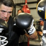 Brandon Rios - Brandon Rios came in slightly over and looked gaunt at yesterday's weight-in for his welterweight showdown with WBO champion, Tim Bradley tonight in Vegas, taking the marginal extra weight off after visiting the bathroom.