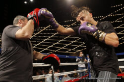 """David Lemieux, Gennady Golovkin -  WBA, IBO and WBC """"Interim"""" Middleweight World Champion Gennady """"GGG"""" Golovkin, (33-0, 30KOs) and IBF Middleweight World Champion David Lemieux (34-2, 31 KOs) hosted their fight week media workout today alongside number one Pound-for-Pound Fighter and WBC Flyweight World Champion Roman """"Chocolatito"""" Gonzalez, (43-0, 37KOs) and Four-Time World Champion in two weight divisions Brian """"The Hawaiian Punch"""" Viloria, (36-4 (22KOs) at the Theater at Madison Square Garden in advance of their anticipated matchups on October 17 at """"The Mecca of Boxing"""" Madison Square Garden. The Middleweight World Championship Title Unification will be produced and distributed live by HBO Pay-Per-View."""