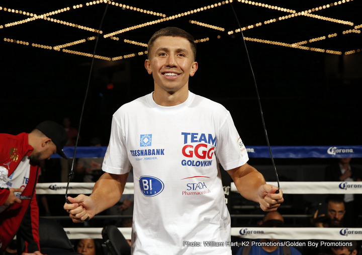"""David Lemieux, Gennady Golovkin - Destructive WBA middleweight boss Gennady Golovkin, has promised and """"old school"""" performance when he fights IBF champion David Lemieux on Saturday night at Madison Square Garden on HBO PPV."""