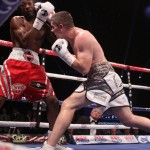 John Thompson - Diego Magdaleno (28-2, 12 KO) ran into a buzz saw tonight in the form of WBO lightweight champion Terry Flanagan (29-0, 12 KOs), who completely destroyed the 28-year-old Magdaleno in 2 rounds at the Manchester Arena in Manchester, UK. Before the mismatch was over, Magdaleno had been knocked down three times by Flanagan.
