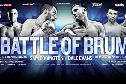 Eggington Seeking to Send Message to Gavin With Big Win Tonight