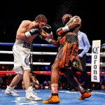 Adrien Broner - (Photo credit: Stephanie Trapp/SHOWTIME) CINCINNATI, Ohio -- (Oct. 3, 2015) - Cincinnati's Adrien Broner won a world title in his fourth weight division with an impressive 12-round TKO over Khabib Allakhverdiev fighting in front of 5,932 of his hometown fans at the U.S. Bank Arena and live on SHOWTIME CHAMPIONSHIP BOXING®\\. Broner (now 30-2, 22 KOs) put his fast hands, thudding power and love of showmanship on display in an exciting performance.