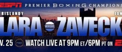 Erislandy Lara – Jan Zaveck on 11/25 on PBC on ESPN