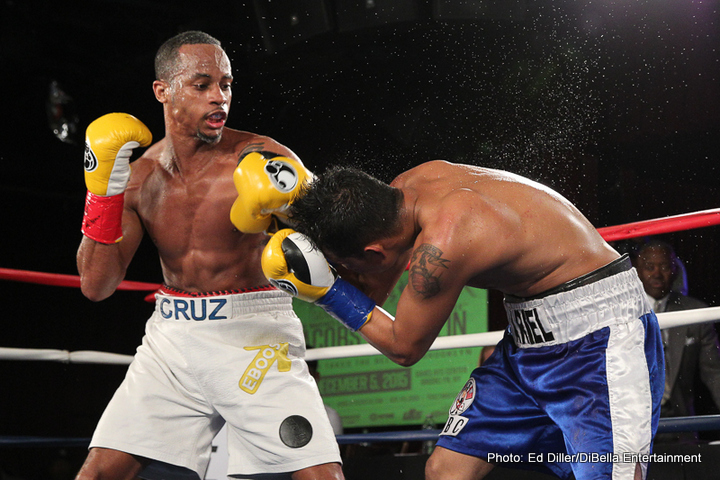 Ivan Golub - Now fully recovered, the 24-year-old Cruz, 139¾, impressively dispatched of southpaw Ariel Vazquez, 137½, Managua, Nicaragua, in the sixth of a scheduled eight-rounder. Cruz almost ended matters very early as the first jab he threw in the fight dropped Vazquez for a count.