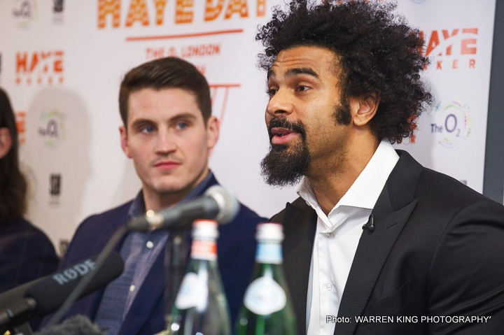 David Haye, Tyson Fury - Tyson Fury has again confirmed that he will not fight returning countryman, David Haye, under any circumstances, claiming he would rather vacate any titles on principle should the 'Hayemaker' work his way into a mandatory position to fight for them.