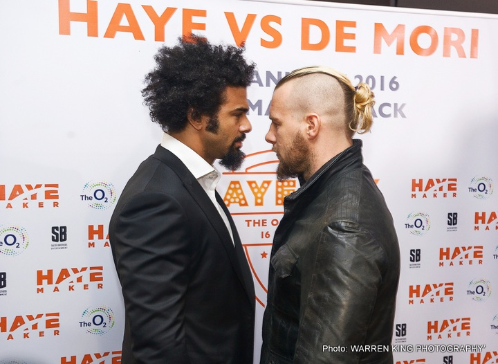 David Haye Mark de Mori Boxing News British Boxing