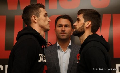 WHO'S FOOLING WHO PRESS CONFERENCEROYAL LIVER BUILDING,LIVERPOOLPIC;BRADLEY ORMESHERCALLUM SMITH AND ROCKY FIELDING COME FACE TO FACE BEFORE THEY CLASH FOR THE BRITISH SUPER-MIDDLEWEIGHT TITLE ONEDDIE HEARNS MATCHROOM PROMOTION AT THE ECHO ARENA ON SATURDAY(NOV 7TH)