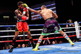 Bermane Stiverne, Derric Rossy, Frank Galarza, Jarrett Hurd - (Photo Credit: Stephanie Trapp/SHOWTIME) LAS VEGAS (Nov. 14, 2015) – Undefeated super welterweight prospect Jarrett Hurd handed Frank Galarza the first loss of his career with a sixth round TKO in the main event of ShoBox: The New Generation on Saturday from The Joint at Hard Rock Hotel & Casino, Las Vegas.