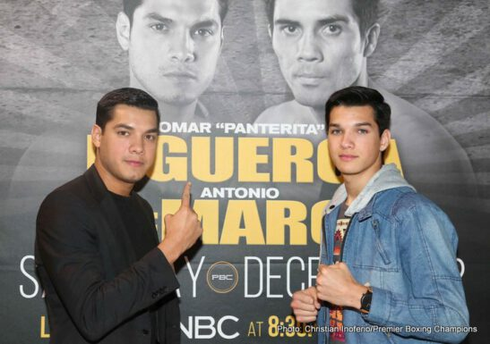 "Chris Arreola, Mario Barrios, Omar Figueroa, Victor Ortiz - Undefeated Omar ""Panterita"" Figueroa (26-0-1, 18 KOs) won an intense slugfest over former world champion Antonio DeMarco (31-6-1, 23 KOs) in primetime Saturday night on Premier Boxing Champions (PBC) on NBC from the AT&T Center in San Antonio."