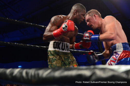 Fredrick Lawson, Kevin Bizier -  Kevin Bizier (25-2, 17 KOs) stopped Fredrick Lawson (24-1, 20 KOs) after 10-rounds of toe-to-toe action on Premier Boxing Champions (PBC) on NBCSN on Saturday night from Miccosukee Resort and Gaming in Miami. Lawson's corner stopped the fight after the tenth round as Lawson indicated that his jaw may have been broken. Bizier pressured Lawson throughout the fight and hurt him with powerful right hands. In the fifth round, Bizier landed one of those powerful rights perfectly on Lawson's head and sent the previously unbeaten fighter to the canvas. Making his U.S. debut, Bizier wore Lawson down and never allowed his opponent to get into a rhythm.