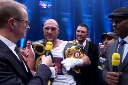Don't call yourself the heavyweight champion until you beat Tyson Fury