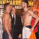 Andy Lee - This Saturday night live on BoxNation (Showtime Extreme in U.S.) Andy Lee and Billy Joe Saunders take center stage at the Manchester Arena. Lee is the more accomplished fighter with real one-punch knockout power. Saunders is unbeaten and will need to use his skills rather than heart to secure the victory. Both fighters come from traveling backgrounds so the WBO belt comes secondary to pride and heritage.