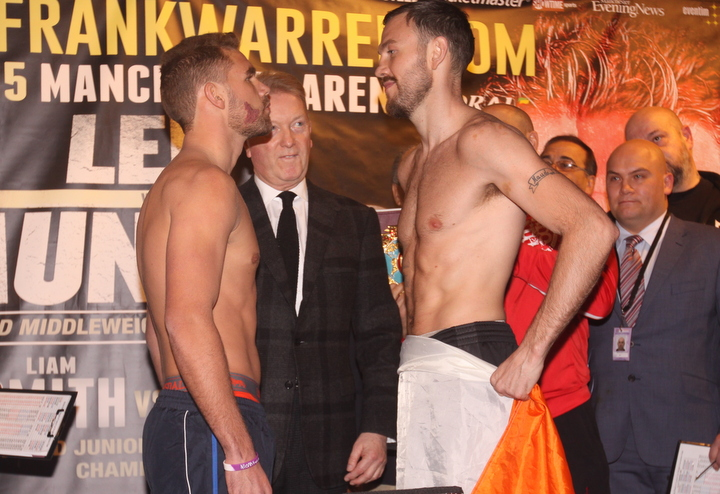 Andy Lee, Billy Joe Saunders - This Saturday night live on BoxNation (Showtime Extreme in U.S.) Andy Lee and Billy Joe Saunders take center stage at the Manchester Arena. Lee is the more accomplished fighter with real one-punch knockout power. Saunders is unbeaten and will need to use his skills rather than heart to secure the victory. Both fighters come from traveling backgrounds so the WBO belt comes secondary to pride and heritage.