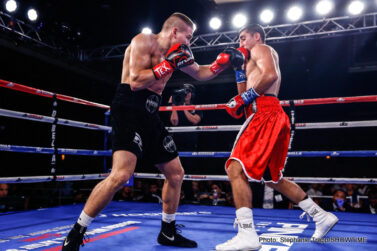 Regis Prograis - Regis Prograis dominated previously undefeated Abel Ramos en route to a ninth-round TKO in the main event of ShoBox: The New Generation live on SHOWTIME on Friday at Bayou City Event Center in Houston.