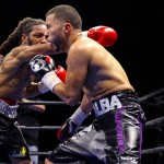 Frank De Alba, Omar Douglas - (Photo credit: Lucas Noonan/Premier Boxing Champions) BETHLEHEM, PA. (December 30, 2015) - Unbeaten Omar Douglas (16-0, 11 KOs) gritted out a 10-round unanimous decision over Frank De Alba (17-2-2, 6 KOs) on Tuesday night's edition of Premier Boxing Champions (PBC) TOE-TO-TOE TUESDAYS on FS1 and BOXEO DE CAMPEONES on FOX Deportes from Sands Bethlehem Event Center in Bethlehem, Pa.