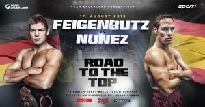 Vincent Feigenbutz - On August 17, German knockout specialist Vincent Feigenbutz (30-2, 27 KOs) will take the next step on his 'Road to the Top' against unbeaten Spaniard Cesar Nunez (16-0-1, 8 KOs) at the Friedrich-Ebert-Halle in Ludwigshafen, Germany.
