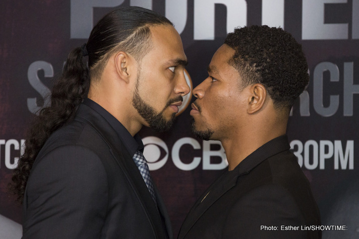 "Keith Thurman, Shawn Porter - Well folks, we finally have it.  Keith ""One Time"" Thurman will battle ""Showtime"" Shawn Porter, March 12 on CBS.  On the line will be Thurman's World Boxing Association (WBA) welterweight title.  Both fighters want to stake their claim as the top dog in the 147-pound division."