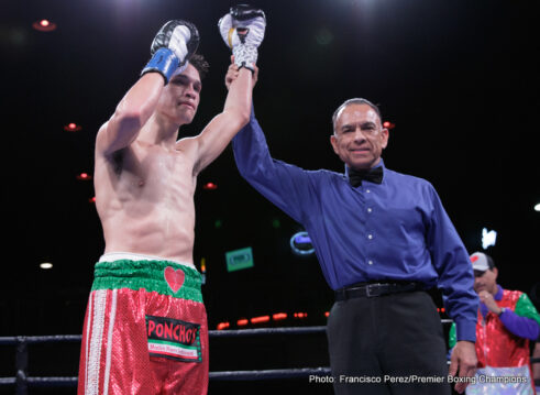 Miguel Flores -  Miguel Flores (19-0, 9 KOs) defeated Mario Briones (27-5-2, 20 KOs) by unanimous decision (98-92, 100-90, 100-90) in a 10-round contest on the Premier Boxing Champions (PBC) TOE-TO-TOE TUESDAYS on FS1 and BOXEO DE CAMPEONES on FOX Deportes fight card Tuesday night from the Dancehall in San Antonio.