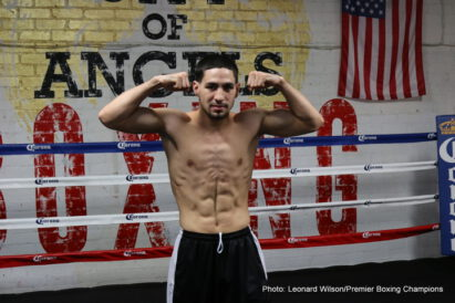 Amir Mansour, Aron Martinez, Danny Garcia, Dominic Breazeale, Robert Guerrero, Sammy Vasquez - Latino rivals Danny Garcia and Robert Guerrero are all set to go to war tomorrow night in their Vacant WBC World Welterweight title showdown, televised exclusively live in the UK on BoxNation from 1am.