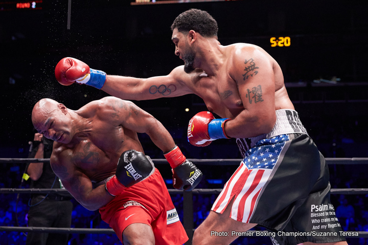 "Charles Martin, Dominic Breazeale - Can Dominic Breazeale put up a better showing than Charles Martin did when he fought new heavyweight star, and new IBF champ Anthony Joshua? That's what people are asking now that ""Trouble,"" as the unbeaten 30-year-old is known has landed first crack at the belt A.J so ruthlessly and effortlessly ripped from Martin on April 9th. Another questions is, can Breazeale possibly do any worse than Martin did?"