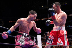 "Amir Mansour, Aron Martinez, Danny Garcia, Dominic Breazeale, Robert Guerrero, Sammy Vasquez -  Before a crowd of 12,052 at STAPLES Center in downtown Los Angeles, Danny ""Swift"" Garcia, (32-0, 18 KOs) of Philadelphia won a unanimous 12-round decision over Gilroy, Calif.'s Robert ""The Ghost"" Guerrero, (33-4, 18 KOs). Scores were 116-112 on all three judges' scorecard."