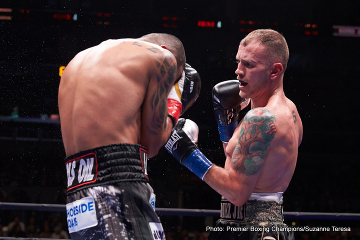 """Aron Martinez - Using movement, holding and accurate pot shots, unbeaten #2 WBC Danny Garcia (32-0, 18 KOs) defeated the slow, easy to hit Robert """"The Ghost"""" Guerrero (33-4-1, 18 KOs) by a 12 round unanimous decision to capture the vacant WBC welterweight title on PBC on Fox at the Staples Center in Los Angeles, California. The fight was there to be won for the 32-year-old Guerrero, but he didn't do enough in the final six rounds to get the win. The judges scored the fight by the identical scores of 116-112, 116-112 and 116-112."""