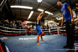 Artur Szpilka, Deontay Wilder - (Photo credit: Stephanie Trapp/SHOWTIME) A huge fight week featuring the first two heavyweight world title fights in Brooklyn in 115 years kicked off Tuesday with media workouts at world famous Gleason's Gym in Brooklyn.