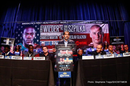 Artur Szpilka, Deontay Wilder - Press Room
