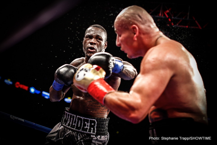 Deontay Wilder - There is plenty to like about both unbeaten Deontay Wilder, the reigning WBC heavyweight king, and unbeaten Anthony Joshua, holder of course of the IBF strap, and there are some similarities between the two. Both big men are still somewhat green at the highest pro level and both have been called a champion is progress by the experts. Both men have real punching power, and already, fans and a few of these experts are talking about a potential unification showdown between the two that would be absolutely massive.