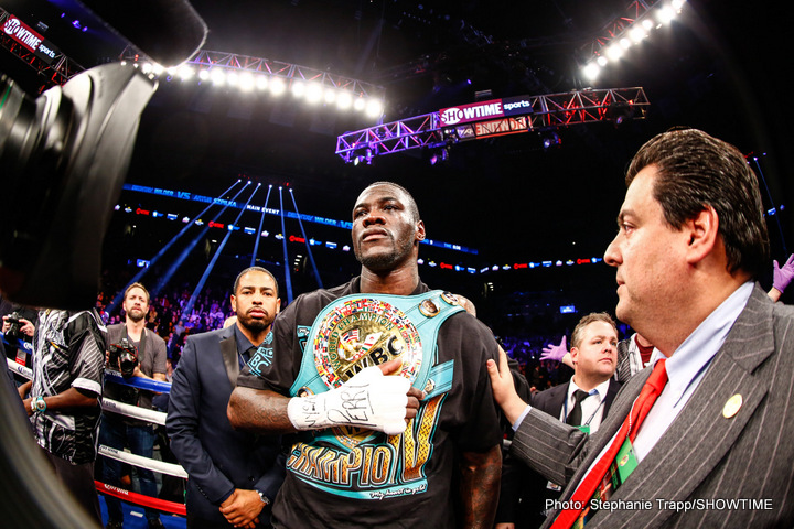 Deontay Wilder - Fight fans are hoping 2017 will provide them with a good, exciting year of heavyweight action. This year, largely dominated by reigning IBF champ Anthony Joshua (who was, with three title fights fought, the most active heavyweight champion) was no great year, but there are signs that 2017 could be a fine one for the big men of the sport.