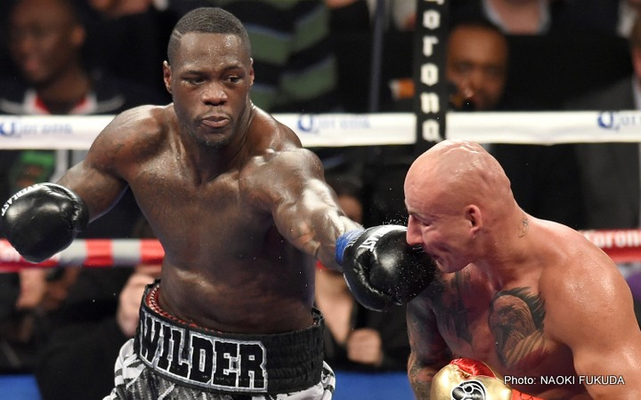 Charles Martin David Haye Deontay Wilder Tyson Fury Wladimir Klitschko Boxing News Top Stories Boxing
