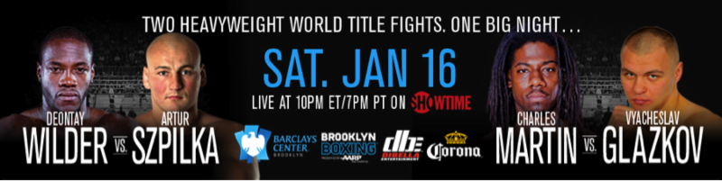 Charles Martin - Lou DiBella - Welcome to the final conference call for the SHOWTIME Championship Boxing show, January 16 of this new year at the Barclays Center in Brooklyn, New York. The show will begin at 10 p.m. ET/7 p.m. PT on SHOWTIME. It's a world championship, heavyweight championship doubleheader. These are the first two heavyweight title fights in over 100 years in Brooklyn on the same night, 115 years since the last heavyweight title fight in Brooklyn. And there'll be two on the same night on January 16 on SHOWTIME.