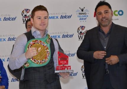 """Saul """"Canelo"""" Alvarez receives WBC 160lb title"""