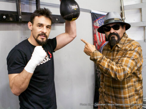 """Danny Garcia, Robert Guerrero - Photo credit: Brett Ostrowski / Mario Serrano Team Guerrero)  With fight week just days away, Robert """"The Ghost"""" Guerrero hosted a media workout in the Bay Area Wednesday to discuss his primetime welterweight world title showdown with Danny """"Swift"""" Garcia on Saturday, January 23 that headlines Premier Boxing Champions (PBC) on FOX and FOX Deportes from STAPLES Center in Los Angeles."""