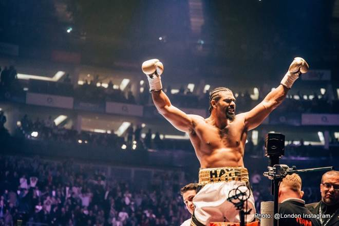 David Haye - Former two-weight world champion David Haye broke broadcasting records this weekend for UKTV channel Dave, with a peak of 3 million viewers tuning in to watch The Hayemaker's long-awaited comeback versus Australian Mark De Mori.