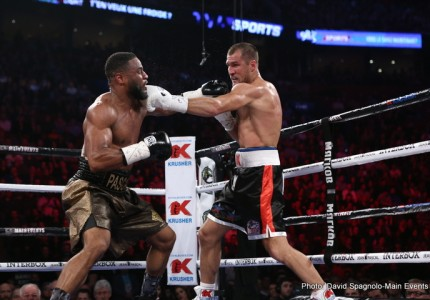 "Kovalev punishes Pascal as ""Chickenson"" watches"